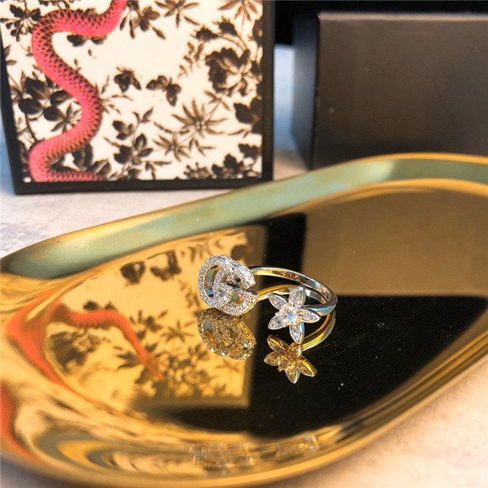 asymétrie diamant fleur femmes bijoux design de luxe bijoux design bagues bague bagues de fiançailles pour femmes 925 bagues en argent sterling