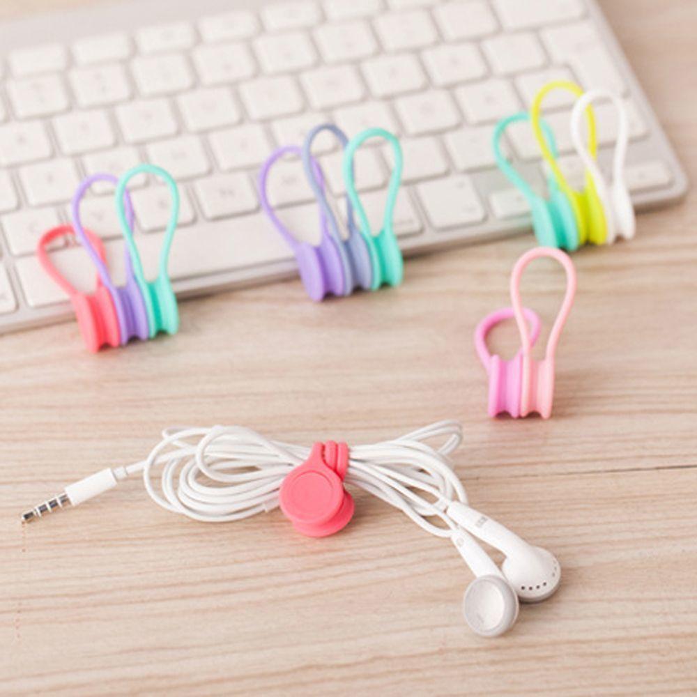 3 / Pack Magnet Nette Kopfhörer Kabelclips Halter Korean kawaii, Kabelaufwicklung Zubehör Organizer Schreibtisch, Schreibtisch