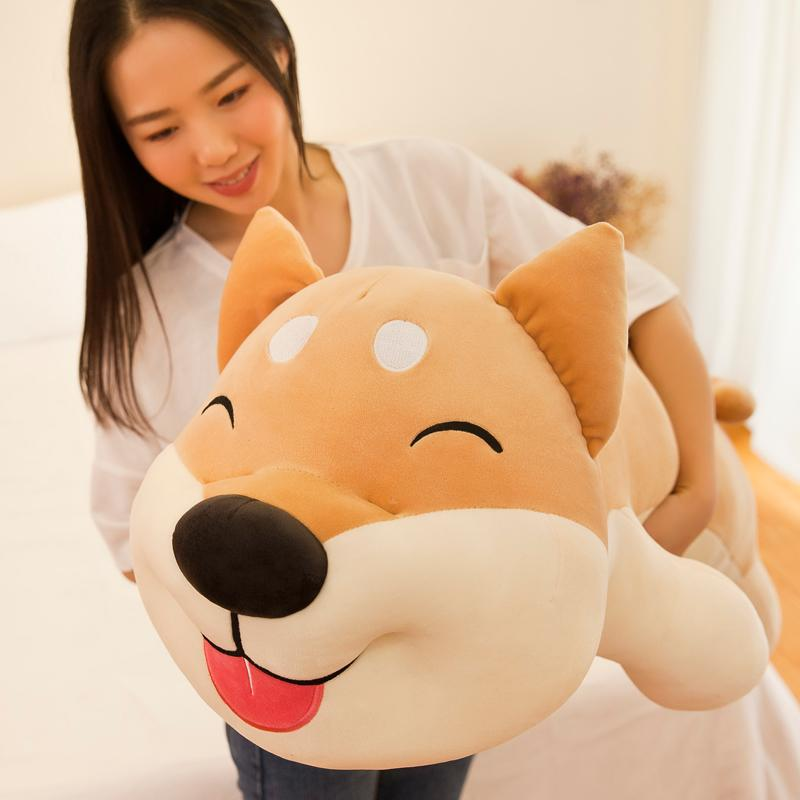 cute plush toy Shiba Inu doll Japanese Akita dog super soft pillow large bed lying dog birthday gift 43inch 110cm DY50866