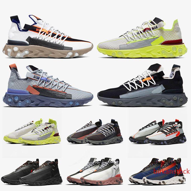 Reaccionar WR ISPA MID LW 2019 nuevas mujeres zapatos corrientes del mens antracita luz carmesí ley del revólver Platinum Volt reacciona para hombre de las zapatillas de deporte entrenadores deportivos