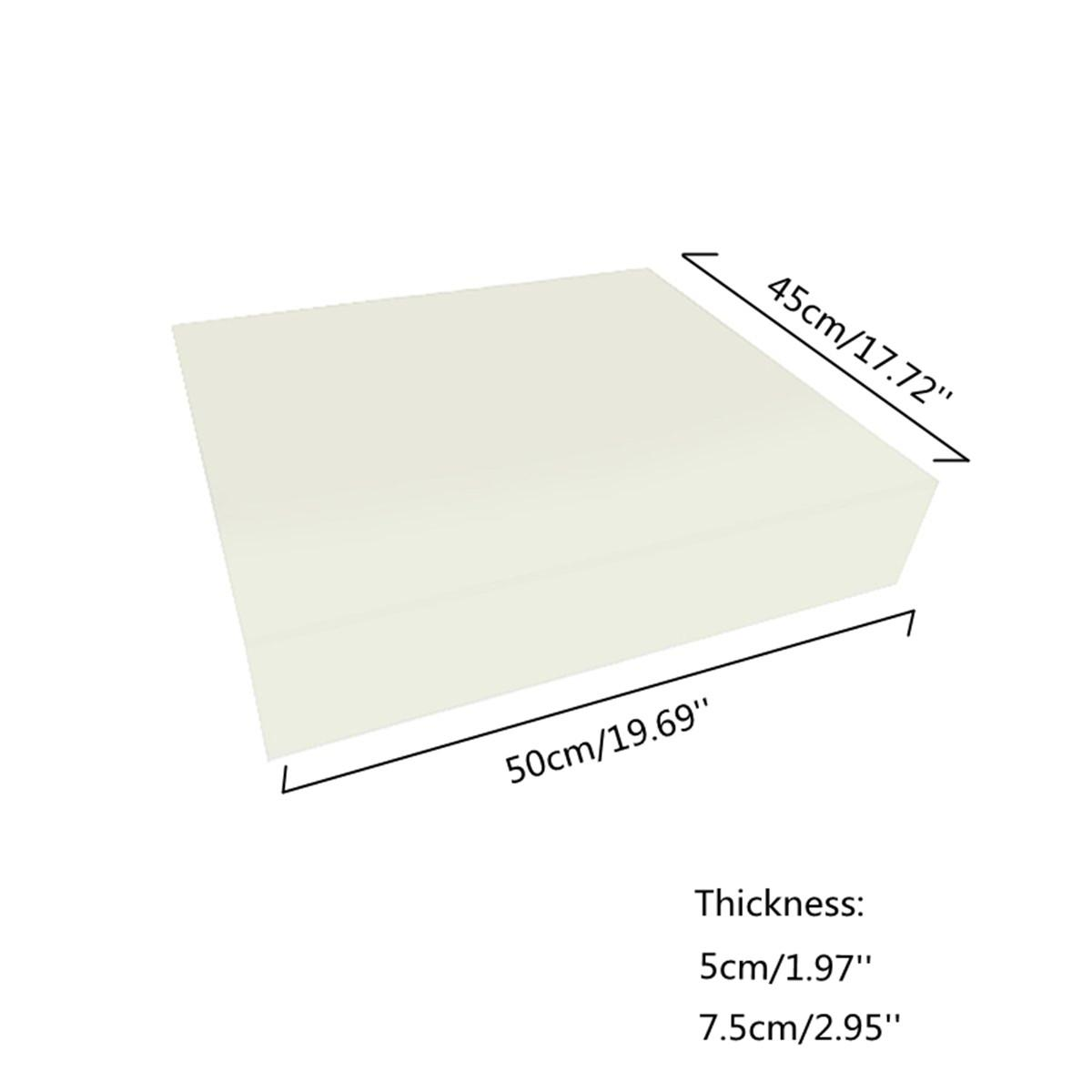 Feuille de coussin tapisserie d'ameublement de haute densité en caoutchouc mousse coussin de rechange blanc écologique Coussin Sofa éponge Pad Mat 18x20 « »