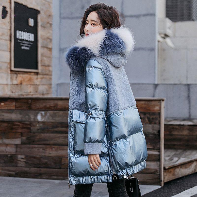 Jacket Casaco de Inverno mulheres Parkas Mulher casacos longos Cores brilhantes Casacos de mulheres gola de pele Vestuário Womens WPY740 2020