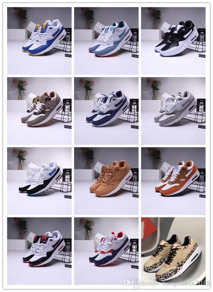 2020 Мужская мода кроссовки обувь Классический Мужчины Женщины кроссовки Белый Сапфир Надувное Sneaker двухслойной кожи Спорт кроссовок