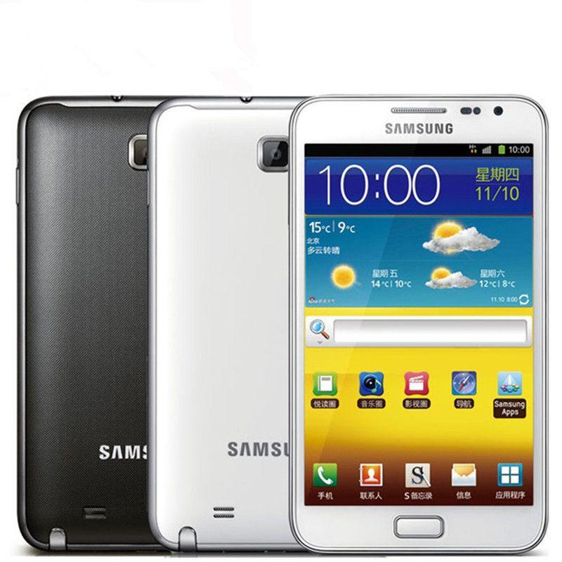 الأصلي سامسونج غالاكسي ملاحظة N7000 ثنائي النواة 5.3  الهاتف الخليوي الروبوت 8MP الجيل الثالث 3G واي فاي GPS ROM 16GB تجديد