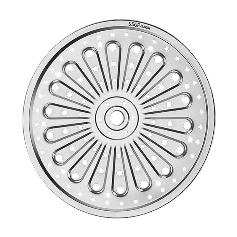 1Pcs vapore compresse rotonde 304stainless acciaio Vassoio Rack Steamer Fetta al vapore panini Wok griglia 2019NEW Hot Di26cm-28 centimetri-30cm 32 centimetri