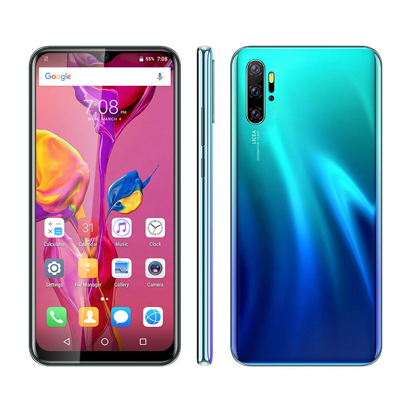 Unlocked Android Smart Mobile Phone X50pro 6.53 inch Water Drop Full Screen Cellphone UNIWA 3G WCDMA 2GB 16GB Global Version Phones