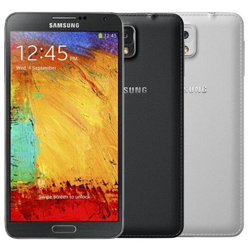 تم تجديده الأصلي سامسونج غالاكسي ملاحظة 3 N9005 4G LTE 5.7 بوصة رباعية النواة الجيل الثالث 3G RAM 32GB ROM 13MP الهواتف الذكية DHL 1PCS