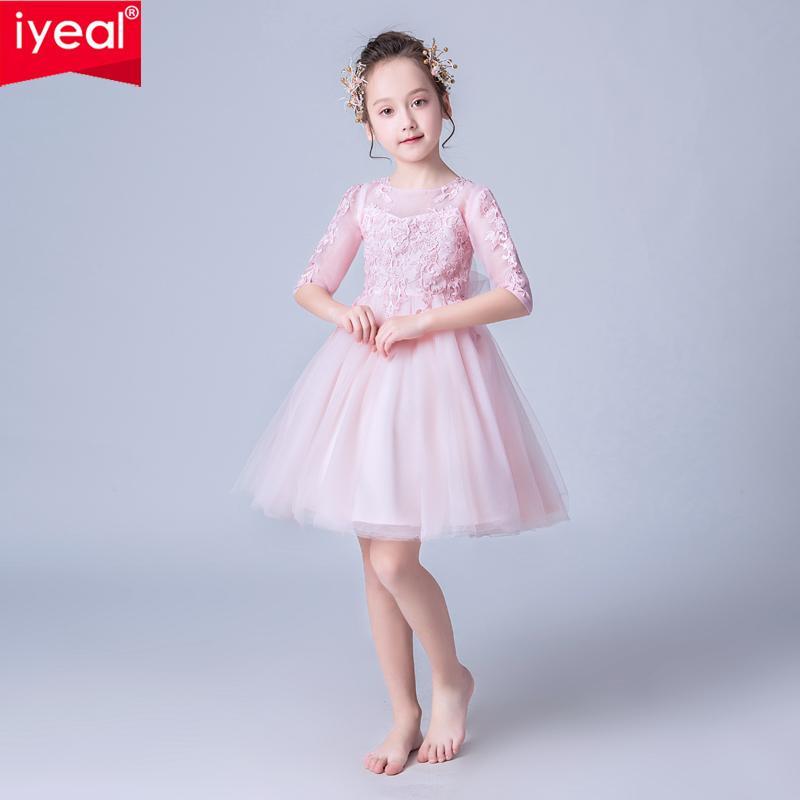 Compre Iyeal Fiesta De Verano Vestido De Princesa Ropa Para Niña Traje De Boda Vestidos Para Niñas Para Dama De Honor Vestido De Tutú Elegante 10 12