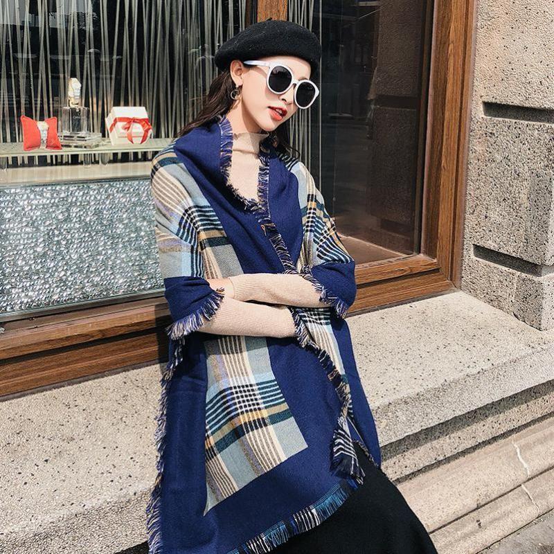 Women  Cashmere Shawl Scarfs Women Fashionable High Quality long Scarfs Winter  New Plaid