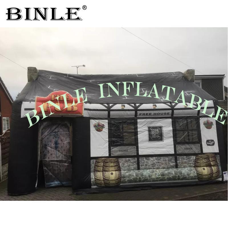 في الهواء الطلق أكسفورد المحمولة خيمة حانة للنفخ، قابل للنفخ حانة الأيرلندية، نفخ شريط الشرب خدمة لمطعم تعلن ل