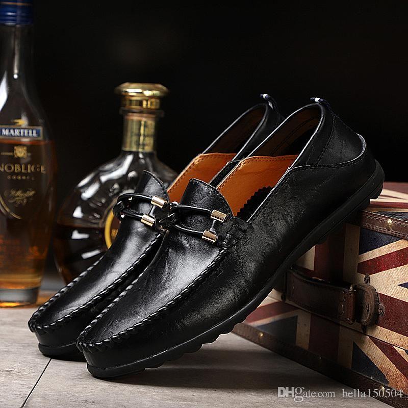 24 styls vera pelle di lusso del progettista pattini casuali Lace-up o Slip-On scarpa scarpe vestito pattini di vestito respiro alla guida di auto degli uomini dimensione 37-4