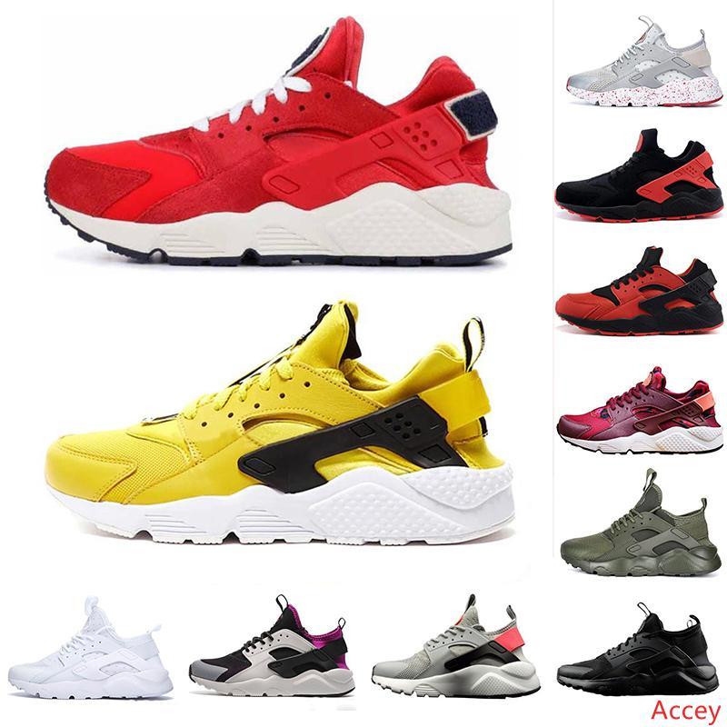 2019 Yeni Hava Huarache 4,0 1,0 Spor Ayakkabı Spor Kırmızı Sarı Beyaz Erkek Ayakkabı Yardımcı Kadın Eğitmenler Lüks Tasarımcı Sneakers Boyut 12 Running