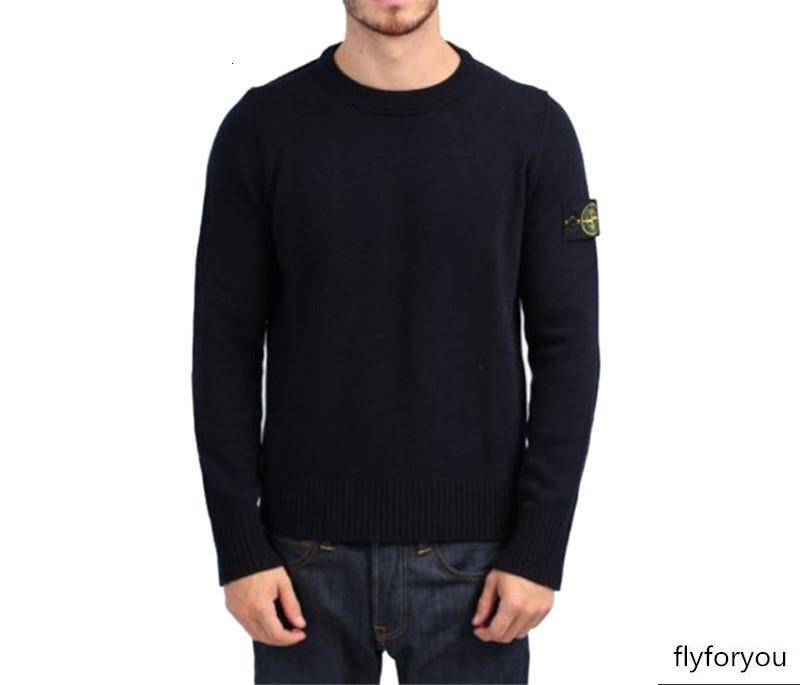em torno do pescoço casuais malha MAN camisola Pedra homens 19SS NOVO 535B9