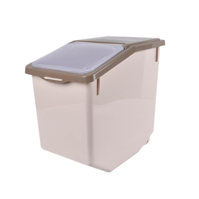 Cuisine Flour Box avec blocage des roues Joint couvercle PP riz de stockage de conteneurs Conteneurs