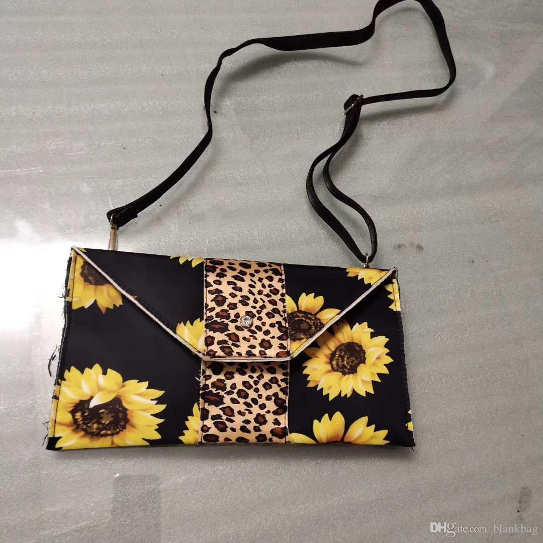Nouveau sac à bandoulière embrayage léopard sac enveloppe tournesol patchwork léopard mode floral sac à bandoulière dame sac floral occasionnel