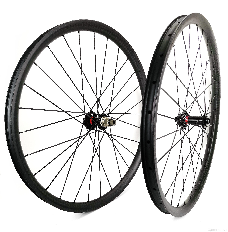سوبر ضوء 29er الدراجات الجبلية عجلات الكربون 35 ملليمتر العرض 25 ملليمتر عمق لايحتاج mtb DH العجلات الكربون مع UD ماتي النهاية navatec 791/792
