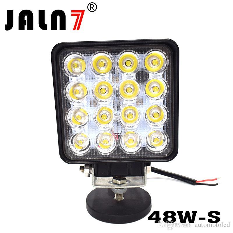 48w LED 스팟 빔 조명 광장 오프로드 전구 램프 빛 안개 조명 지프 / 오두막 / 보트 / SUV / 트럭 / 자동차 / ATV / 차량 / 지동차