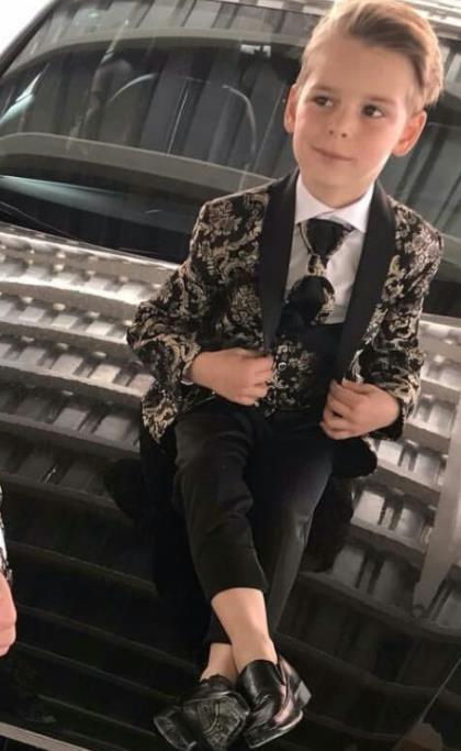 Boy's Suits 3 шт. Пляж свадьба смокинг для детского шаль-отворота формальный пом.