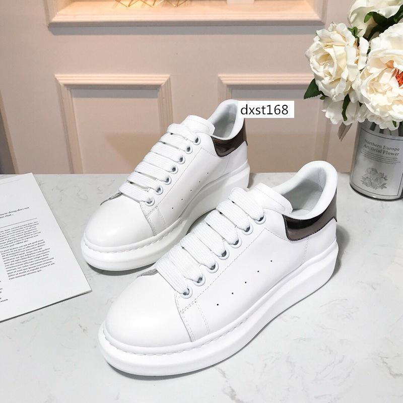 С коробкой Роскошные дизайнерские туфли кожаные кроссовки на платформе женские мужские плоские повседневные туфли досуг платье обувь ежедневные кроссовки 1