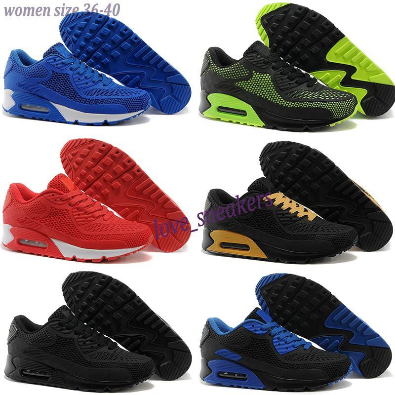 Nike Air Max 90 KPU Erkekler Kadınlar Rüzgârı Yastık Erkek Ayakkabı Koşu Chaussures kpu Zapatillas Hombre Siyah Beyaz Kırmızı Sneakers Klasik Spor Sneakers 36-40 L13