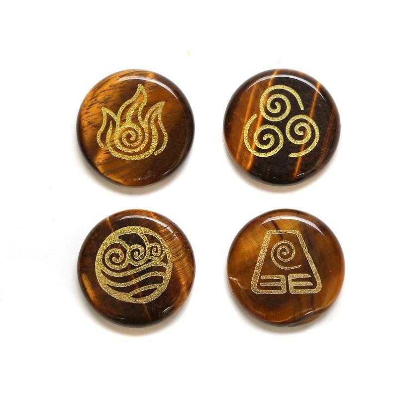 4 шт. / пакет натуральный Кристалл украшения древнегреческий четырехводный горный огонь символ энергии Земли исцеляющий камень