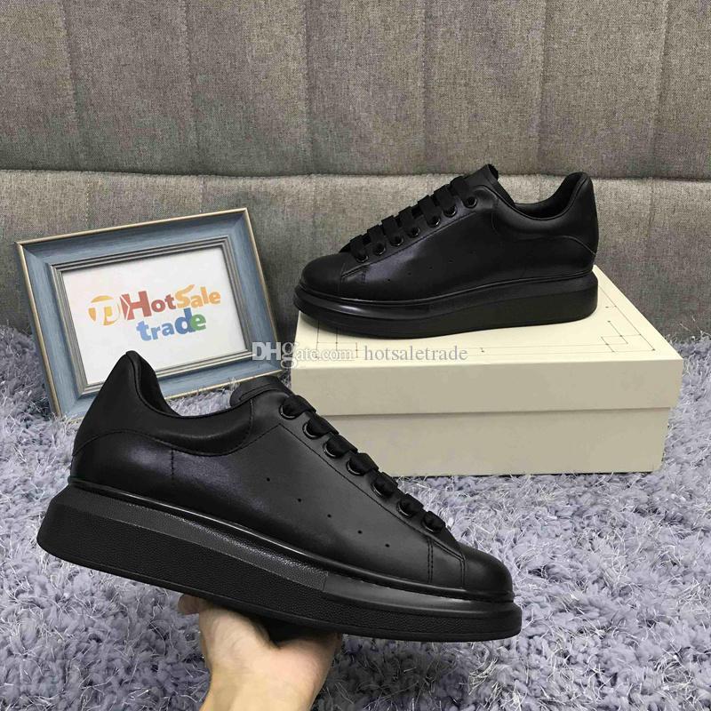 Scarpe in pelle Designer piattaforma Sneakers nero classico superiore Chunkey Chaussures Scarpe con la zeppa progettisti delle scarpe da tennis con la nuova scatola