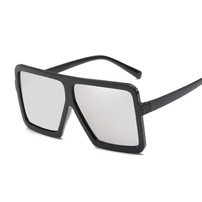 Vintage солнцезащитных очков Женщина Марк Дизайнер Крупногабаритный Солнцезащитные очки Оттенки Черный объектив очки UV400 очки