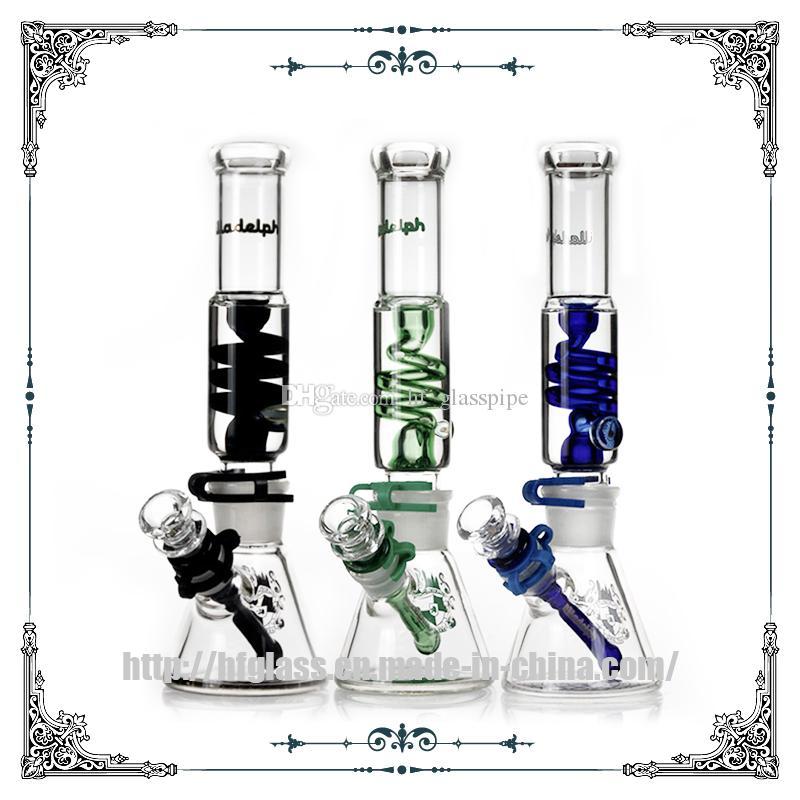 12 pouces Illadelph Glass gelable bobine de fumer des tuyaux d'eau 7mm épais bécher bongs bangs haks pipes fab jet construire un bong gree expédition