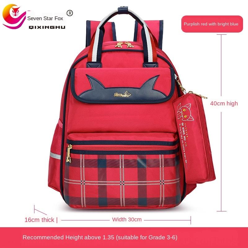 d0xSq Qixing Fox Grundschule Schulkindertaschen Rucksack für Männer und Frauen wasserdicht Belastung mindernde verschleißfesten schmutzigen Rucksack