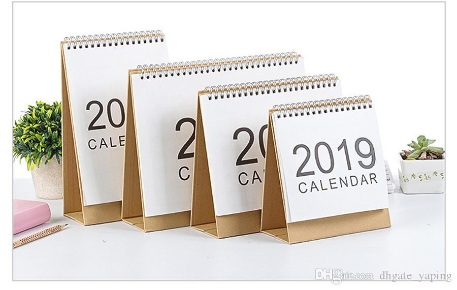 2019 Writable Weekly Planner Monthly List Plan Daily Calendar Desktop Creative Office White Stand Simple 18.5*21cm Calendar