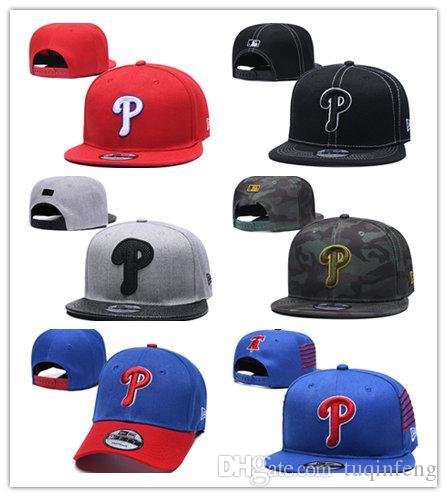 Molti colore Arrivo Ball Cap Phillies Cappelli da baseball ricamati Lettera logo Cappellini da baseball regolabili Hip-hop Casquette