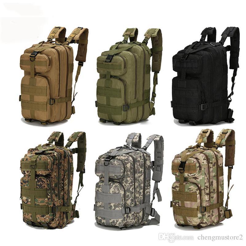 Sac à dos chaud extérieur camouflage militaire en nylon 30L Sac à dos tactique imperméable Sport Camping Randonnée Pêche et Chasse Sac