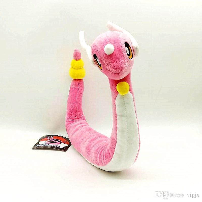 "26""65cm Hot Mini dragon plush Toy Pink Shiny Dragonair Plush Dragon Stuffed Toy Cartoon Doll gift"