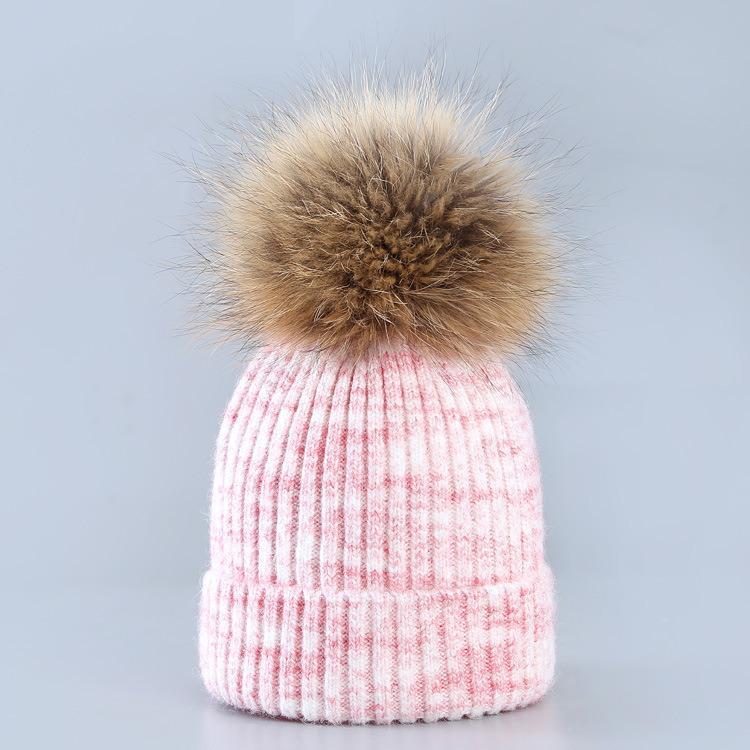 Casquillo de las señoras sombreros Blocado lana sombrero de las lanas del oído entre padres e hijos Protección Calentamiento de tejer del pelo del sombrero del precio de fábrica el sombrero de Navidad