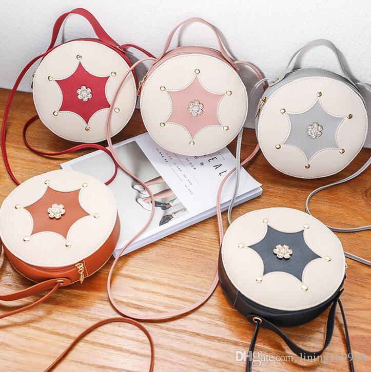 Небольшая круглая сумка новый дамы 2019 корейская версия новой Лю Дин плеча мода переносной диагональ женская сумка