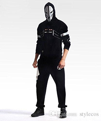 Fashion Hoodie Reaper Black Hooide Cosplay Costume - Deluxe Version
