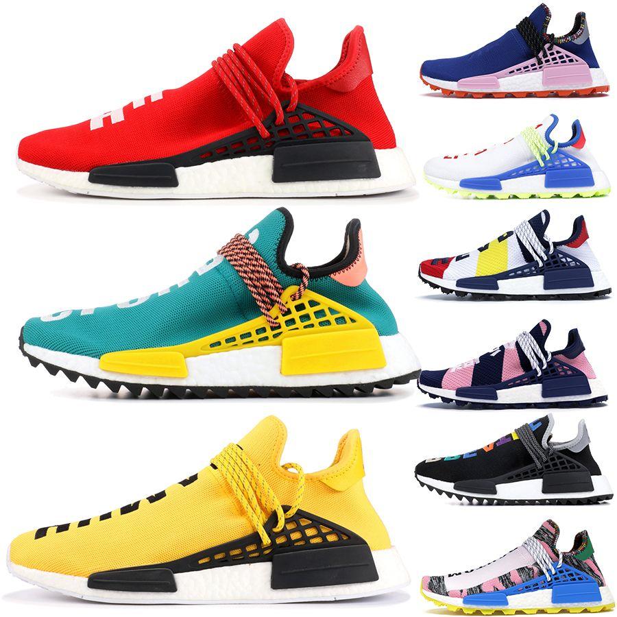 2019 New Human Race trainers Afro Pack Running Shoes Men Women Creme Nerd Pharrell Williams HU Runner Casual Sports Sneakers
