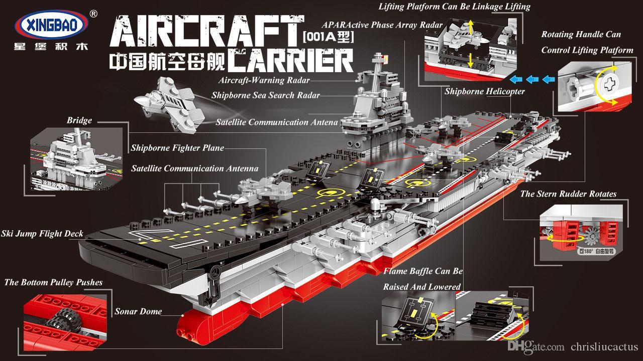 Çin Uçak Gemisi Askeri Serisi askeri Serisi Yapı Taşı Modeli Oyuncaklar