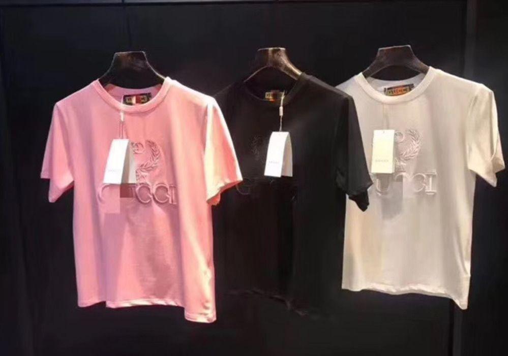 2020 мода Женская футболка с коротким рукавом вышивка супер лучший выбор