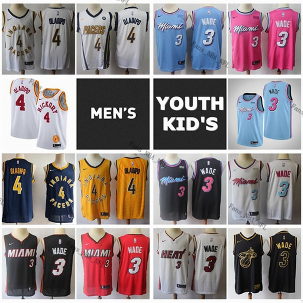 2020 2020 Mens Youth Kids Authentic Miami Heat Dwyane Wade 3 Stitched Indiana Pacers Victor Oladipo 4 Swingman Basketball Jersey From Fans Nba Nfl 55 84 Dhgate Com
