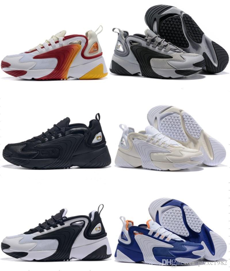 Mais novo Zoom 2K Homens Lifestyle Correndo Tênis Triplo Branco Preto Vermelho Vermelho ZM 2000 Styletrainer Sapatilhas Ao Ar Livre M2K Confortável Causal Sapatos US7-11