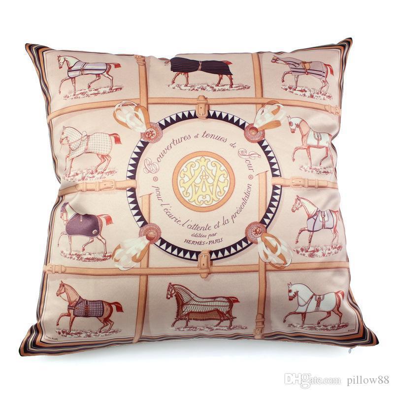Nordic luxo real do ouro local de alta precisão sofá abraço simulação de seda fronha de almofada casa mogno almofada de cetim com lance almofada travesseiro
