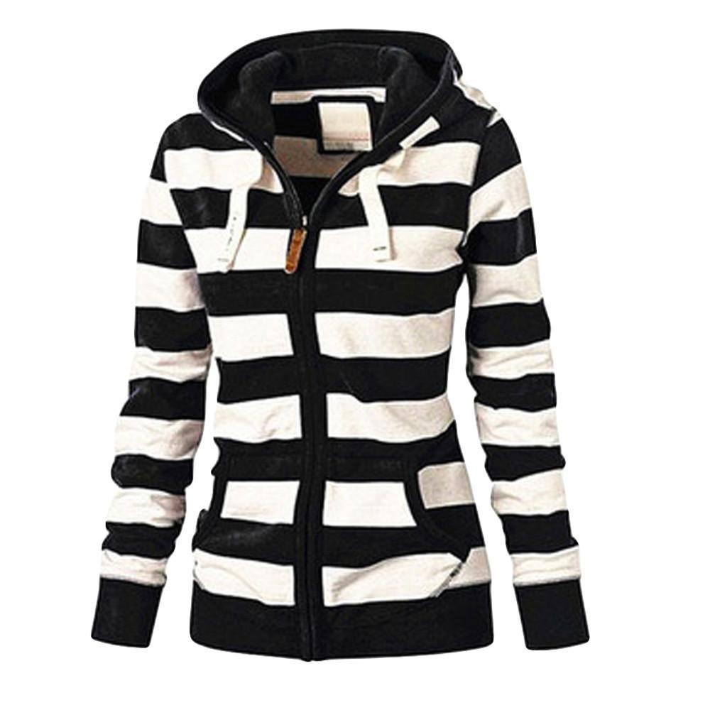 JAYCOSIN Hoodies Frauen-Damen-Damen-Zipper Tops Sweatshirt mit Kapuze beiläufigen dünnen Pullover Herbst Hoodies Sweatshirts 19JUN27 Y200107