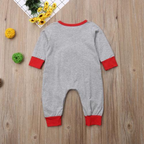 Carino Neonato Neonato infantile della neonata del pagliaccetto casuale popolare stampa di cotone O-collo lungo del manicotto pagliaccetto tuta Abbigliamento Hot