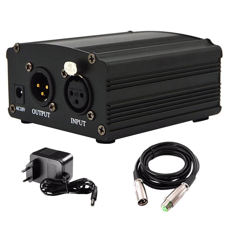 Professionale 48V Phantom Power Supply genuino professionali per Studio di registrazione microfono a condensatore Computer