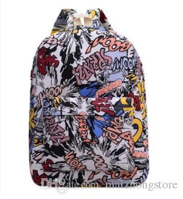 sac à dos designer jan sport sac à dos Casual Graffiti toile sac à dos hommes bagages sacs de voyage sac Patchwork fashion school bag