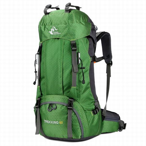 Tattica esterna Zaino Alpinismo Borse Sport Backapcks Escursionismo Camping Sport Borsa doppio pacchetto della spalla Zaino 50L 60L