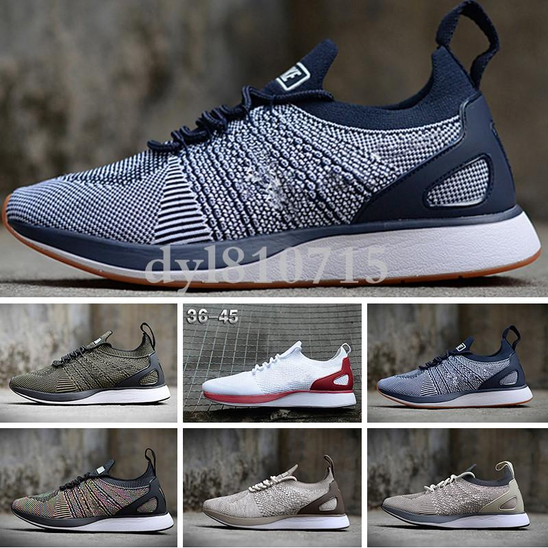 NIKE Air Flyknit Racer Be True 2 2018 classique Zoom Mariah Fly Racering 2 Mairhs Flykit 3 Lunar Zoom Pegasus Hommes Chaussures de sport Casual Racers Formateurs Taille SF03 40-45