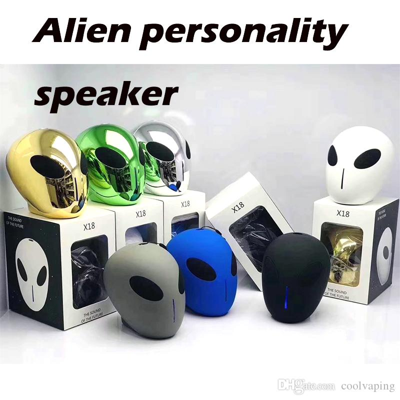 2020 2019 X18alien Wireless Bluetooth Speaker Personality Player Mini Portable Audio Sound Box Tf Usb Radio Mp3 Player Gift By Dhl From Coolvaping 16 31 Dhgate Com