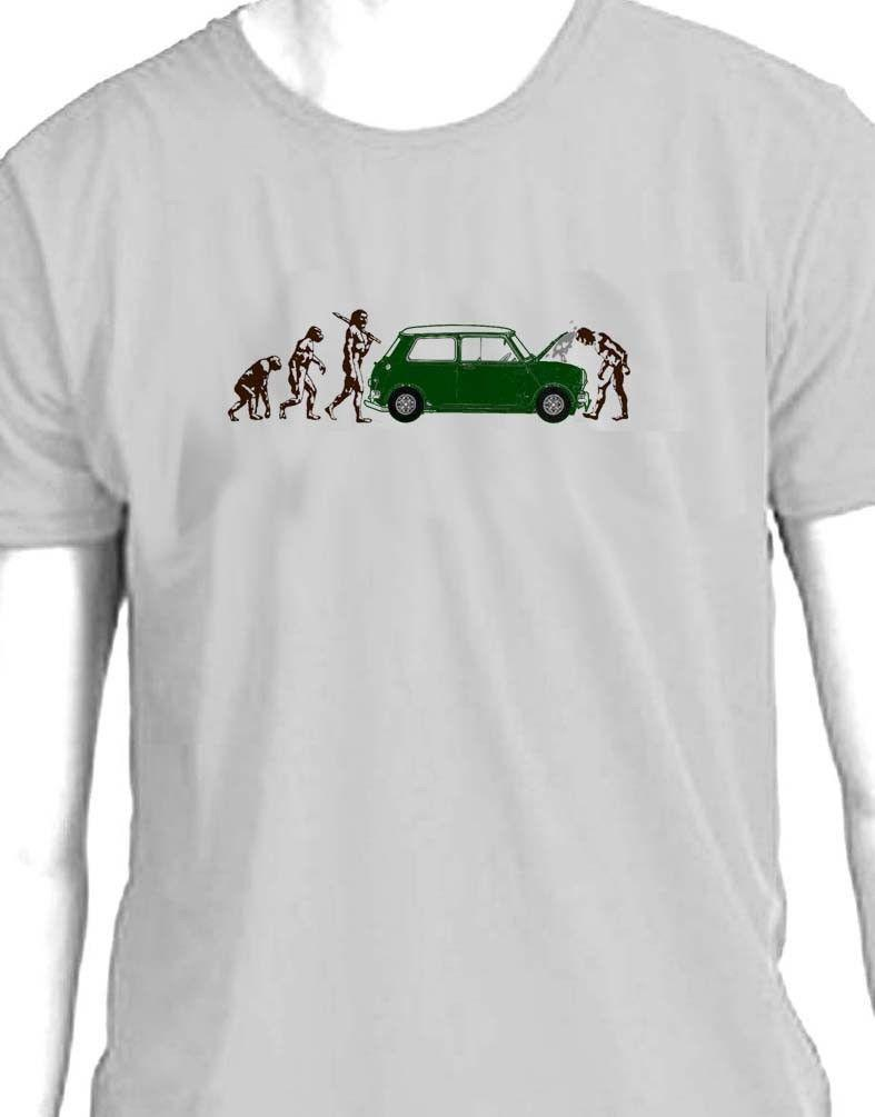 "Mens Homme Summer Casual Short Sleeved T-shirts /""Mini Cooper/"" Print Design Tee"
